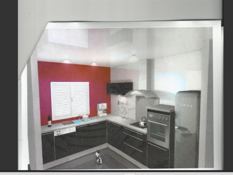 ... Gris Et Rouge Beautiful Awesome. 1 Er Achat Notre Maison La Cuisine  Page 2
