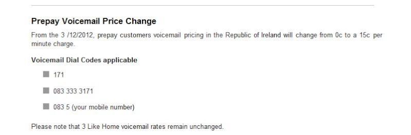 La Three 3G Irlandese introduce tariffa per uso della voicemail 171 3voice10