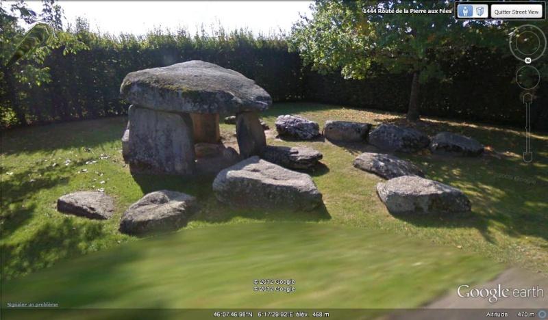 Street View : Menhirs, dolmens et autres mégalithes - Page 2 Dolmen12