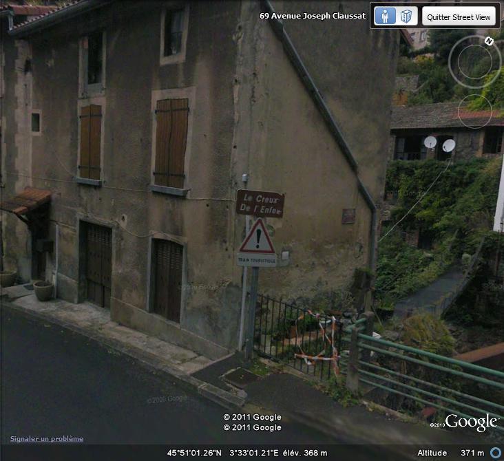 Street View : Bonne nouvelle , en enfer , il y a des trains touristiques ! Enfer10