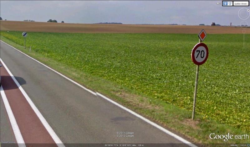 STREET VIEW : les panneaux routiers Limite10