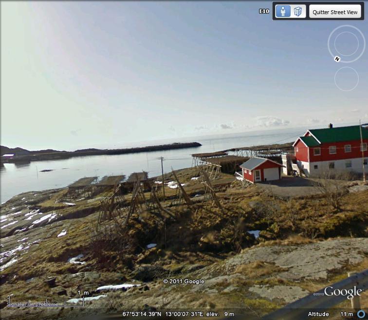 STREET VIEW : Séchoirs à morues, Servâgen, Norvège Sechoi10