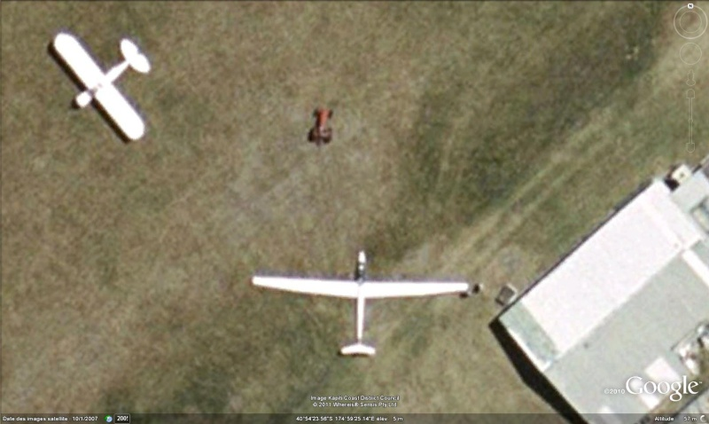 Les planeurs vus dans Google Earth Tracte10