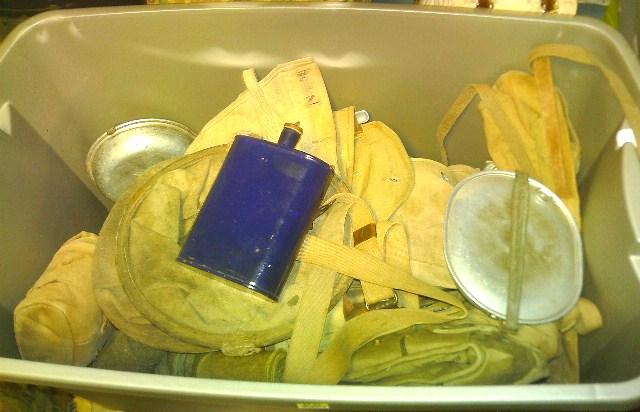 Storage box of WW1 gear. Pict0071