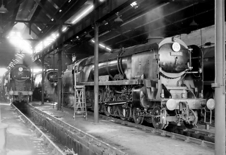 Bulleids in Salisbury Shed Southe10