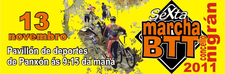 VI marcha BTT concello de Nigran 13/11/11 Cartel14