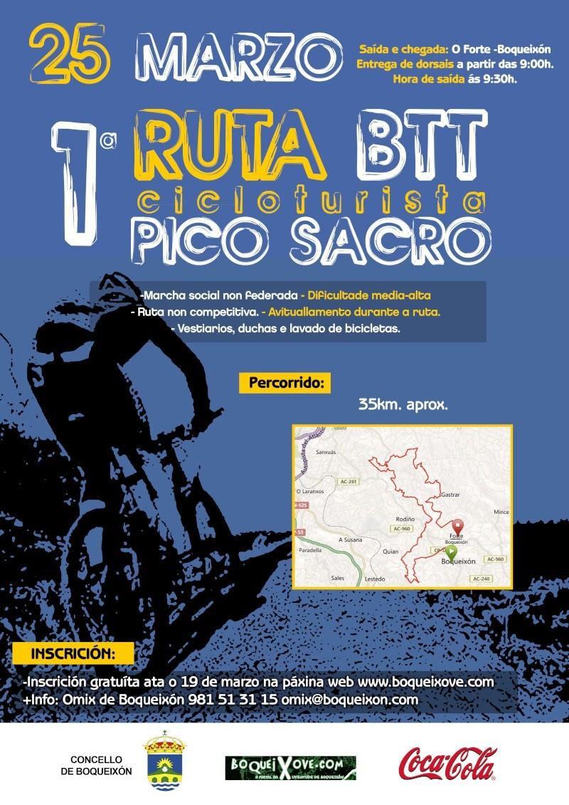 I ruta cicloturistica pico sacro. boqueixon  Cartel19