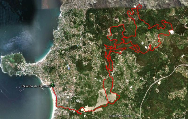 VI marcha BTT concello de Nigran 13/11/11 Mapa_r10