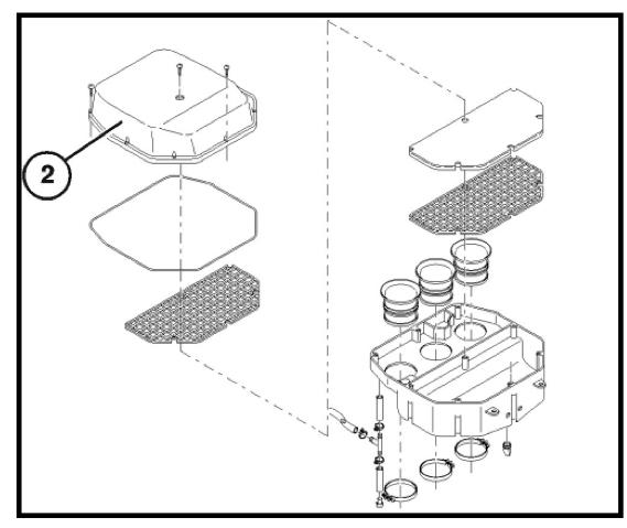 Dépose de la boite à air Ishot-85