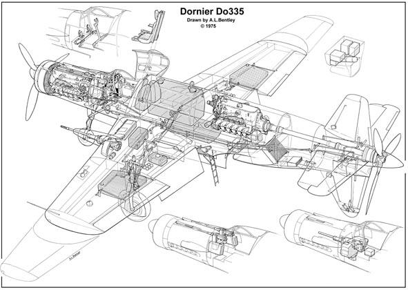 Un oiseau rare ! 1945 crash dornier 335 en 1945 à Eloyes Jo304010