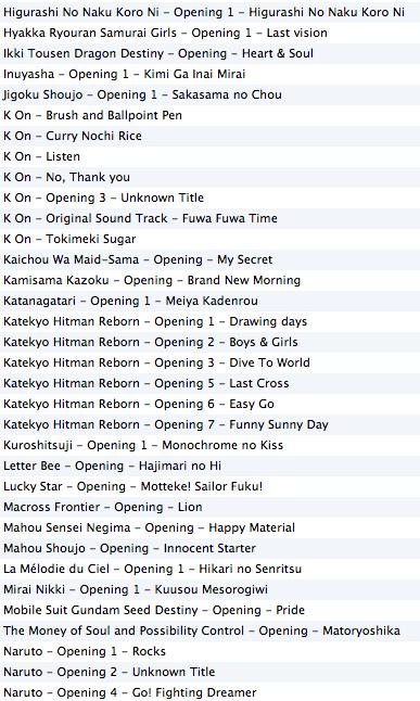 Playlist issue de culture japonaise (Jeux + Animés) Captu371
