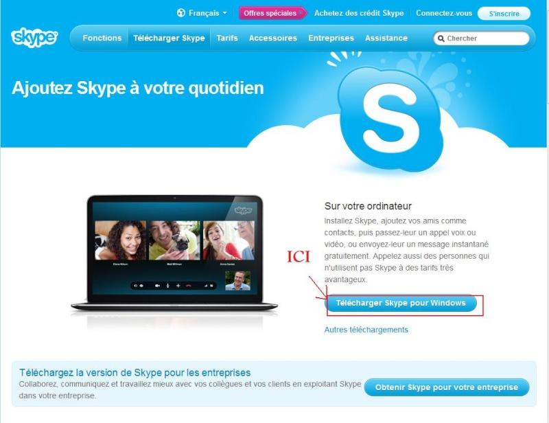 Comment installer et utiliser Skype? Rech_g11