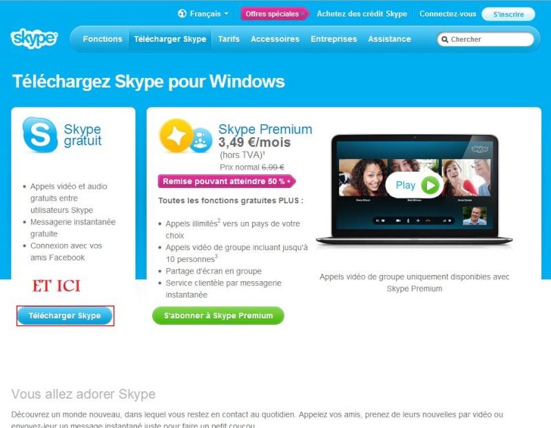 Comment installer et utiliser Skype? Rech_g12