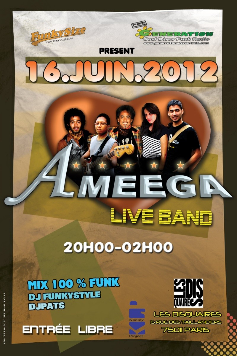 Samedi 16 Juin : Concert Ameega + Soirée FUNK  Ameega12