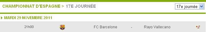 Fc Barcelone- Rayo Vallecano(match avancé de la 17ème journ) 17avan10