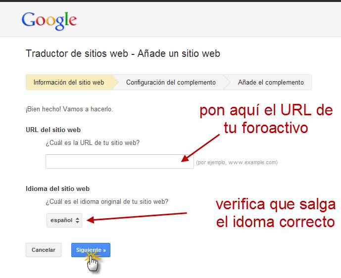 Traduce tu foro a cualquier idioma con el traductor de Google 19010
