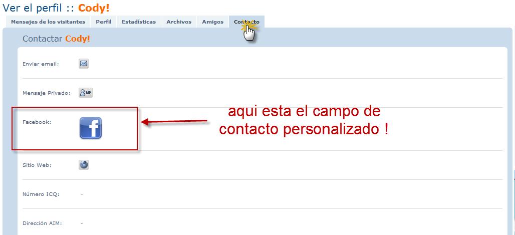 Modificar y crear campos de contactos personalizados. 8310