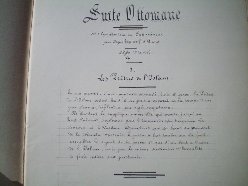 """Alphonse MUSTEL: """"Scène / Suite ottomane"""": Composition mystérique Docume13"""