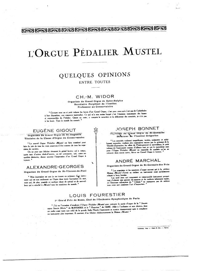 VENTE d'un MUSTEL 2 claviers Pedalier Modele N°9 sans celesta . Page_611
