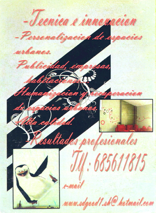 SPRAYTERS, decoración de interiores y exteriores Contra10