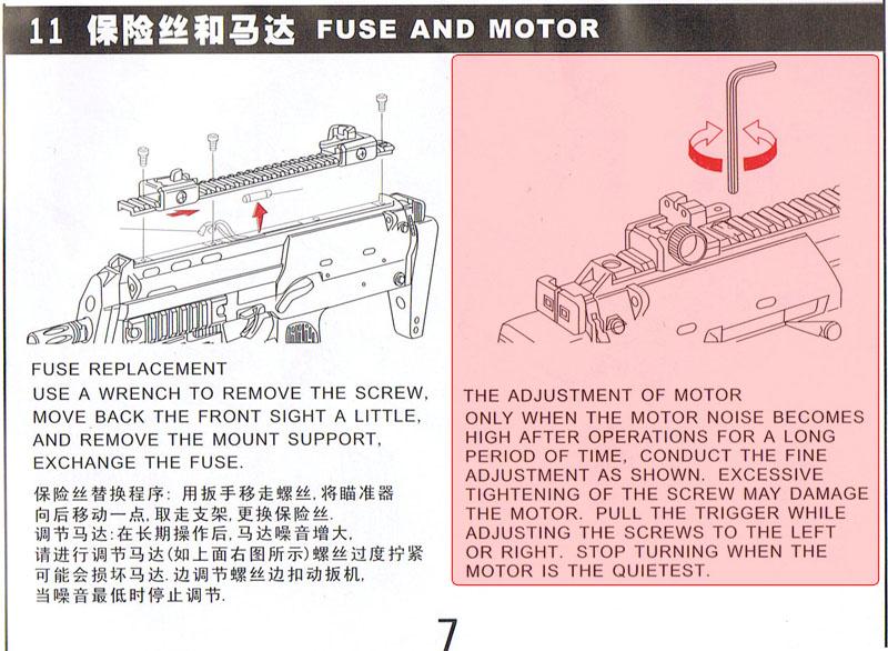 Ajuste motor MP7 R-4 Fuse_a10