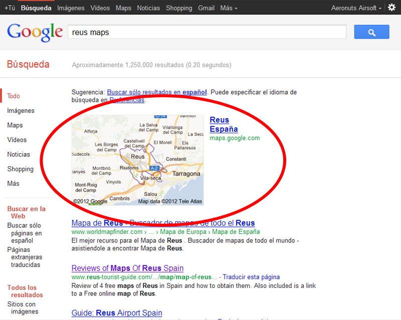 Como colocar enlaces de localizaciones en Google Maps Maps110