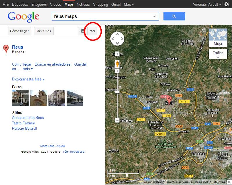 Como colocar enlaces de localizaciones en Google Maps Maps210