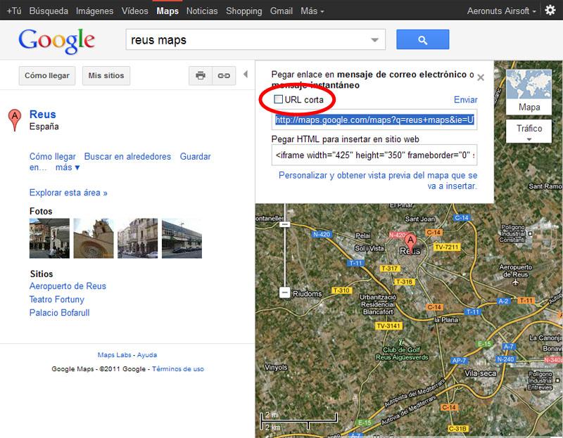 Como colocar enlaces de localizaciones en Google Maps Maps310