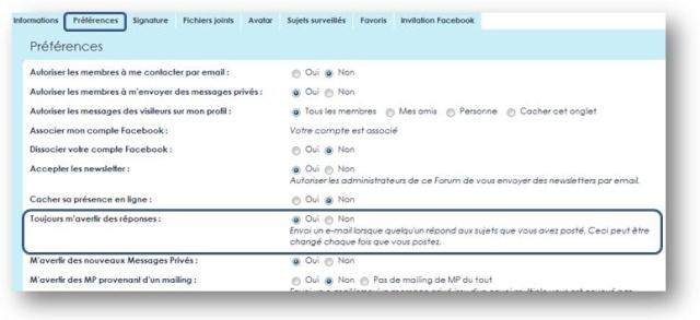 Mail reçu à chaque réponse Captur63