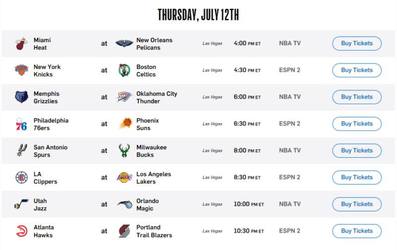 Las Vegas Summer League - Game On! - Game 4 vs New York Knicks Screen37