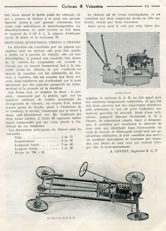 GAR Gardahaut cyclecar voiturette - Page 2 Garcyl11