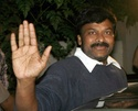 Indian Movie Star with M sign in palm  - Chiranjeevi ! Chiran10