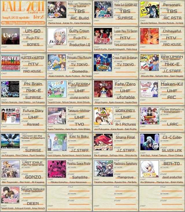 (A) anime line ups for the season (9/29/10) 58c83e10