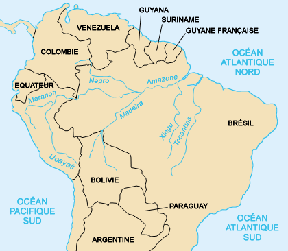 Carte Amerique Du Sud Fleuves.Le Fleuve Amazone