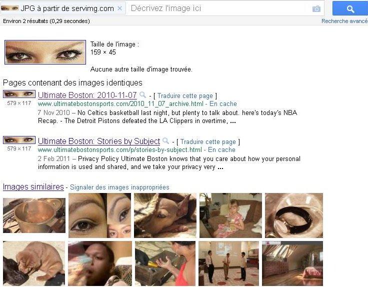 Défis Google: Recherche d'images à partir d'une Image Byeux012