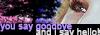you say goodbye and i say hello!  Logo-b10