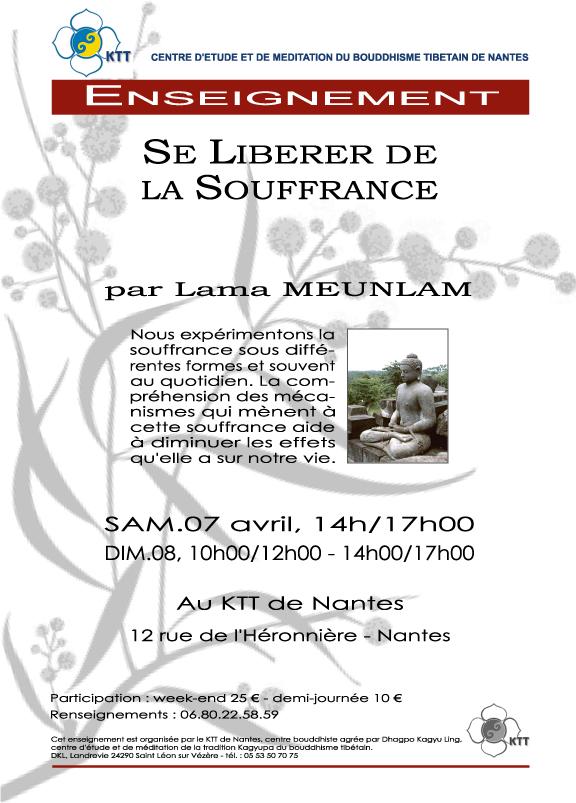 Se liberer de la souffrance - KTT de Nantes 7 et 8 avril Affich10