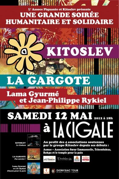 Grande Soirée Humanitaire et Solidaire, 12 mai 2012, La Cigale, Paris. Affich11