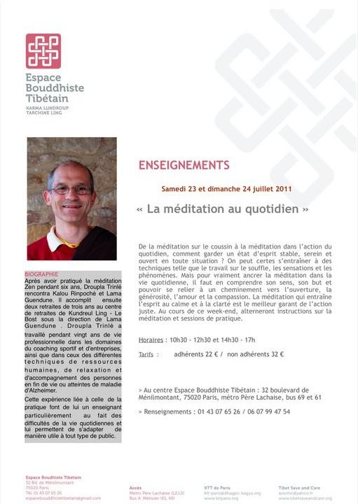 La méditation au quotidien - 23/24 juillet à Paris Sans_t13