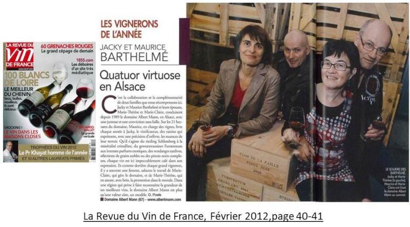 Le Domaine Albert Mann: VIGNERON DE L'ANNÉE 2012 dans la RVF! Albert11