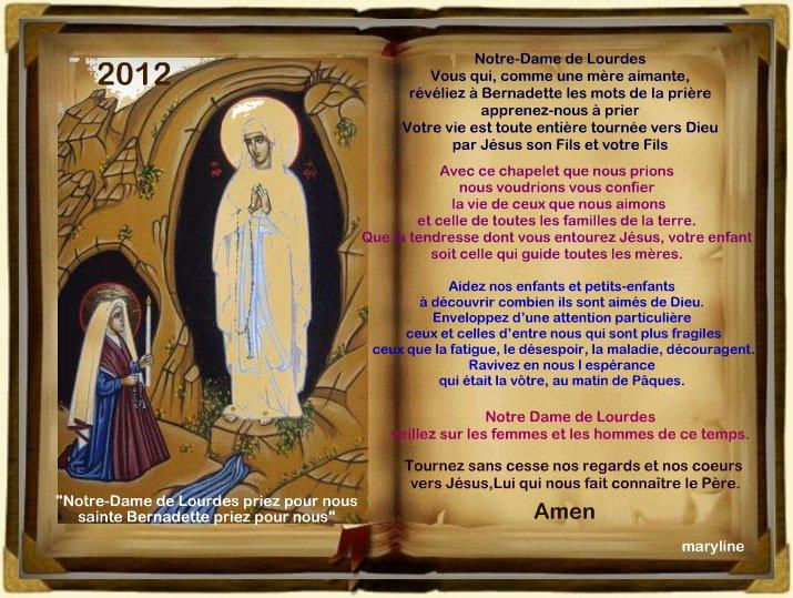 Neuvaine à Notre-Dame de Lourdes : Du 3 au 11 Février 2012 22784113