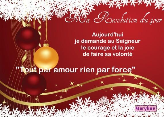 """Bonne résolution """"Noël...VOEUX Nouvelle année 2014"""" Ras10"""