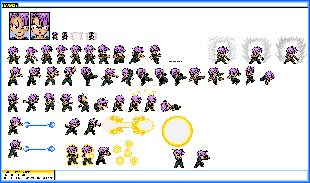 need kid trunks sprites  lsws shaded Trunks10