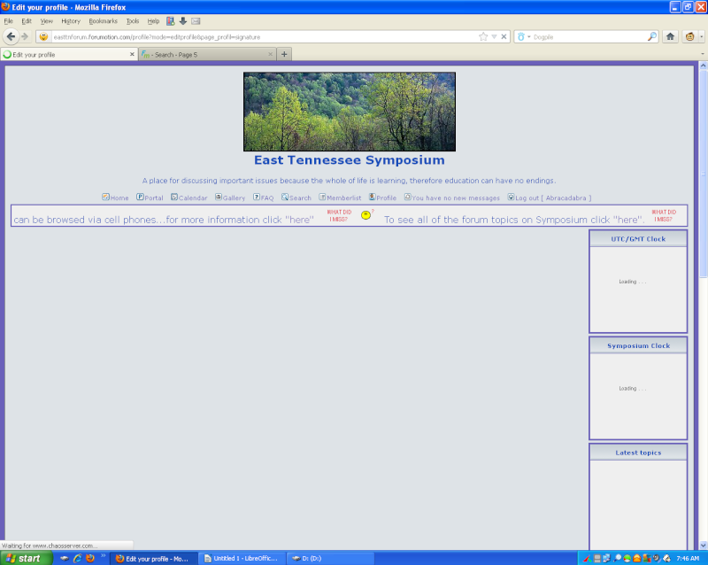 Signature will not show in profile menu Profil11