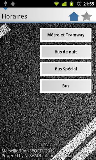 [SOFT] MARSEILLE TRANSPORT : Les horaires des transport en commun de la ville de Marseille dans votre androphone [Gratuit/Payant] A16
