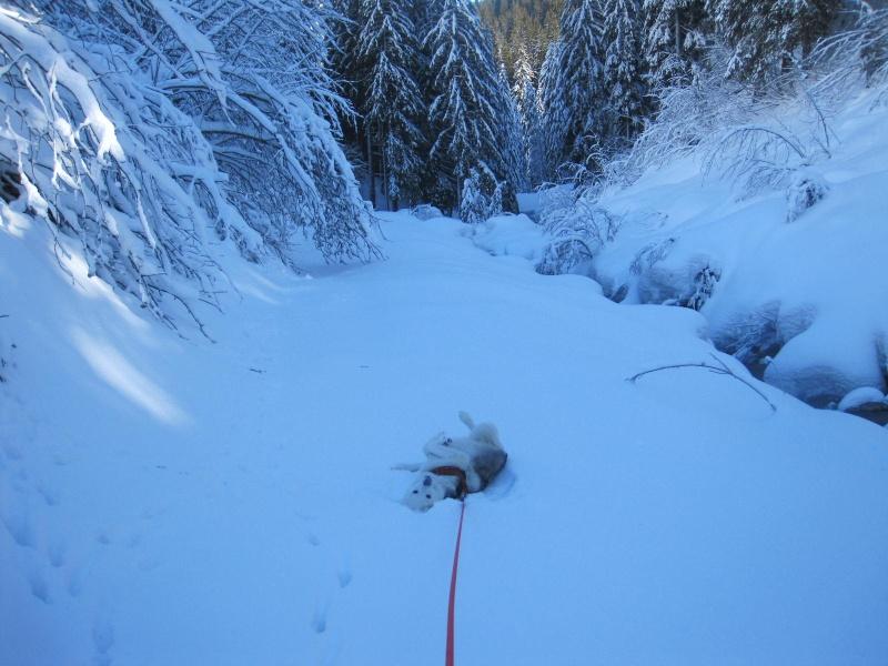 Saskia dans la neige à Morgins 1322