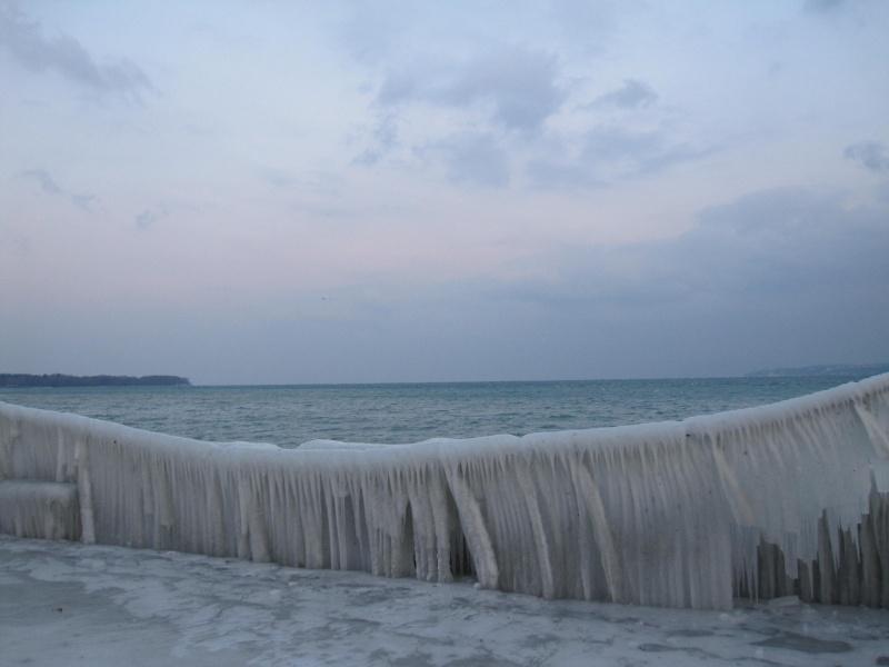 Tempête glacée au bord du lac Léman 1431