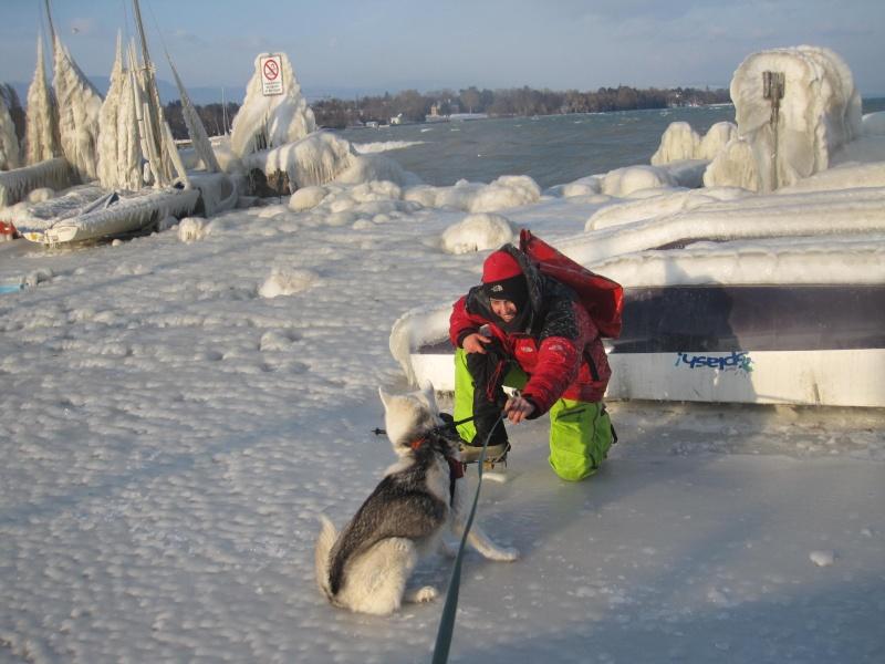 Tempête glacée au bord du lac Léman 236
