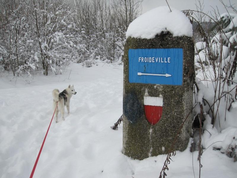 Nouvelles courses de Saskia dans la neige 3813