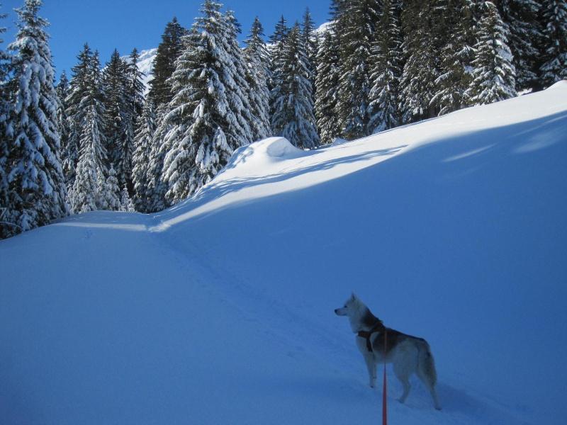Saskia dans la neige à Morgins 822
